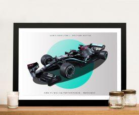 Mercedes F1 Racing Car Print on Canvas