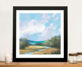 Framed Hedgerow ll Landscape Canvas Art