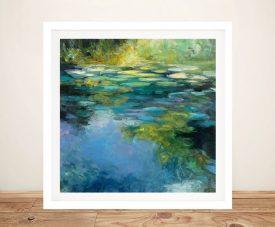Water Lilies lll Framed Watercolour Print
