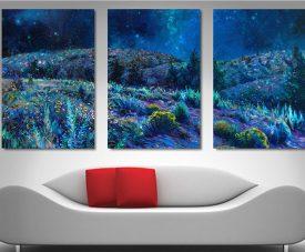 Sage & Time Iris Scott Triptych Wall Art