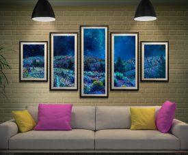 Buy Sage and Time Split Diamond Canvas Art