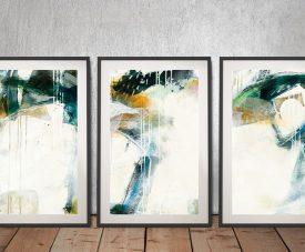 Framed Turbulence Triptych Jane Davies Art