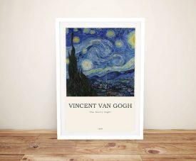 Van Gogh Starry Night Composition Artwork