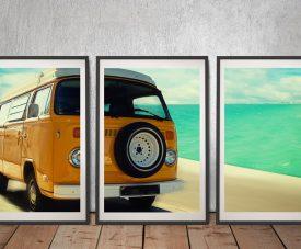 Buy a Framed Vintage VW 3-Piece Art Set