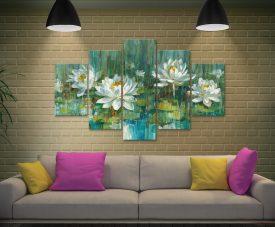 Water Lily Pond Split Diamond Art Set