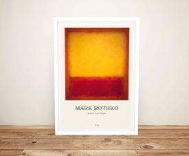 Framed Mark Rothko Modern Composition