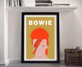 David Bowie Framed Ziggy Pop Art
