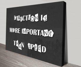 Direction Black & White Inspirational Artwork