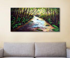 Blue Mountains Creek Landscape Wall Art