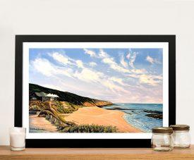Buy Beach View Sorrento Print on Canvas