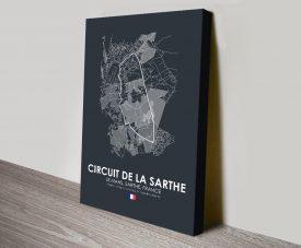 Le Mans F1 Circuit Print on Canvas
