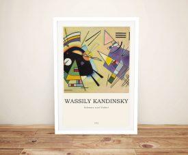 Kandinsky Black & Violet Modern Composition