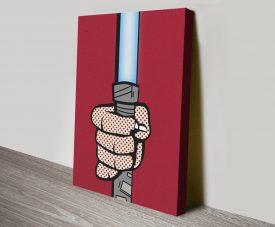 Lightsaber Star Wars Pop Art Print on Canvas