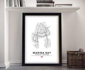 Buy a Framed Marina Bay F1 Circuit Print