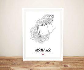 Buy a Framed Monaco F1 Circuit Art Print