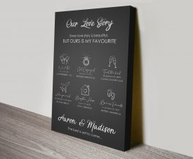 Our Love Story Romantic Canvas Wall Art