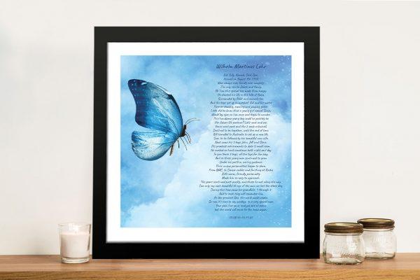 Framed Custom Poem Art Unique Gifts AU