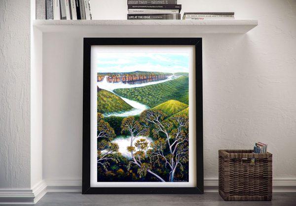 Framed Rolling Mist Landscape Wall Art