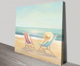 The Simple Life Beachscape Canvas Print