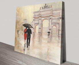 Romantic Paris ll Julia Purinton Canvas Art