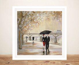 Romantic Paris lll Framed Wall Art