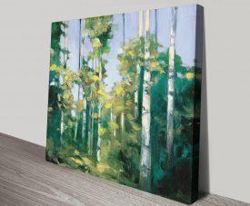 Birches Stretched Canvas Fine Art Print