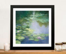Blue Lily l Framed Fine Art Print on Canvas