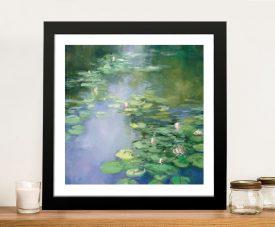 Blue Lily ll Framed Fine Art Print on Canvas