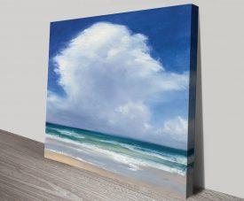 Beach Clouds ll Watercolour Canvas Print
