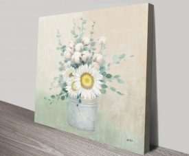 Country Centrepiece Floral Canvas Print