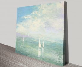 Setting Sail Stretched Canvas Seascape