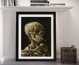 Skull of a Skeleton Framed Van Gogh Print