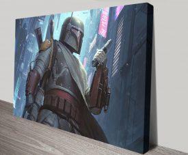 Buy a Boba Fett Star Wars Print on Canvas