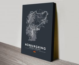 Nurburgring F1 Track Print on Canvas