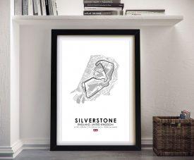 Silverstone F1 Track Framed Wall Art