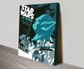 Empire Strikes Back Yoda Vintage Movie Poster