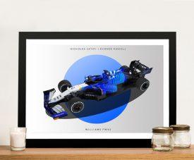 Williams F1 Framed Retro Style Print on Canvas