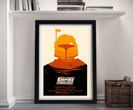 Framed Boba Fett Star Wars Wall Art