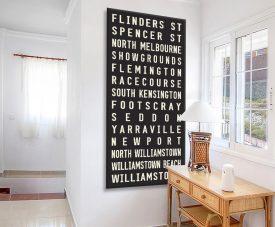 Flinders Street Vintage Style Tram Banner