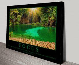 Buy a Focus Motivational Print on Canvas