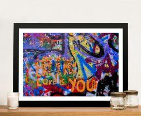 Love is You Colourful Graffiti Wall Art