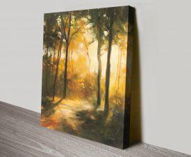 One Way Landscape Watercolour Canvas Print