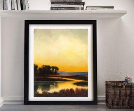 Buy Yellow Twilight Framed Landscape Art