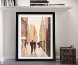 City Stroll Romantic Cityscape Wall Art