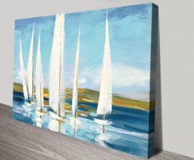 Horizon Seascape with Boats Canvas Artwork
