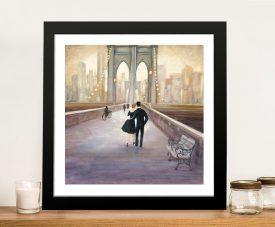 Bridge to NY Framed Julia Purinton Cityscape