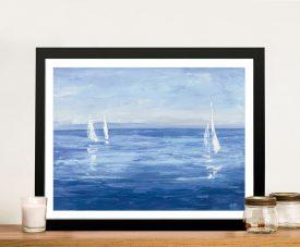 Open Sail Framed Julia Purinton Seascape