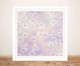 Cherry Blossom Framed Julia Purinton Floral Art