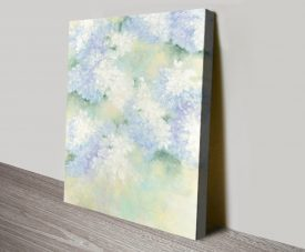 White Lilacs Floral Canvas Wall Art