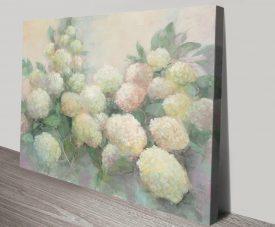 Annabelle Hydrangeas Floral Art Print